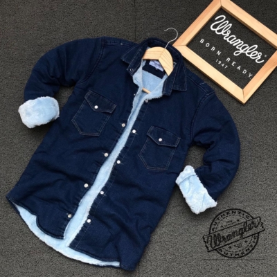 Denim furr shirt