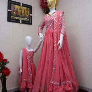 Mother daughter gown combo