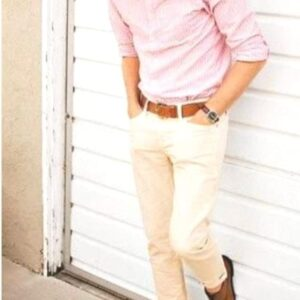 formal pink shirt and trouser