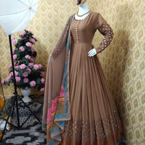 Beautiful designer Gown with duppatta